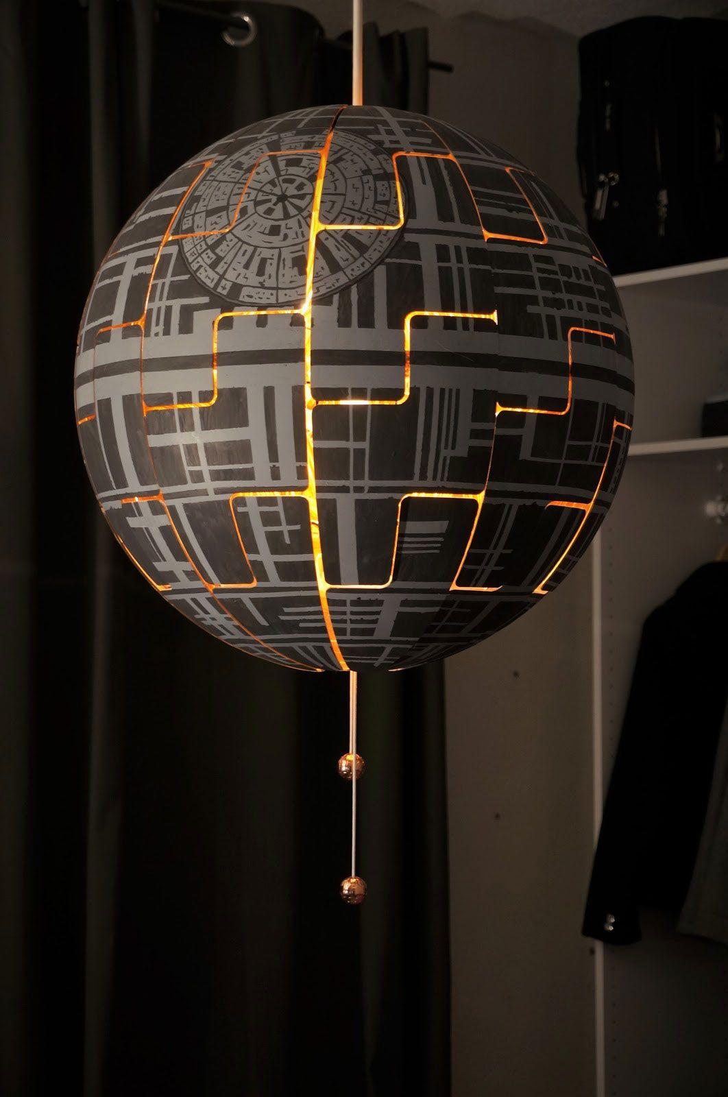 Star Wars Lampe Ikea Etoile Mort Lampe Ikea Lampe Star Wars Lampe Diy