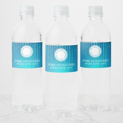 Company Brand Bottled Water Label