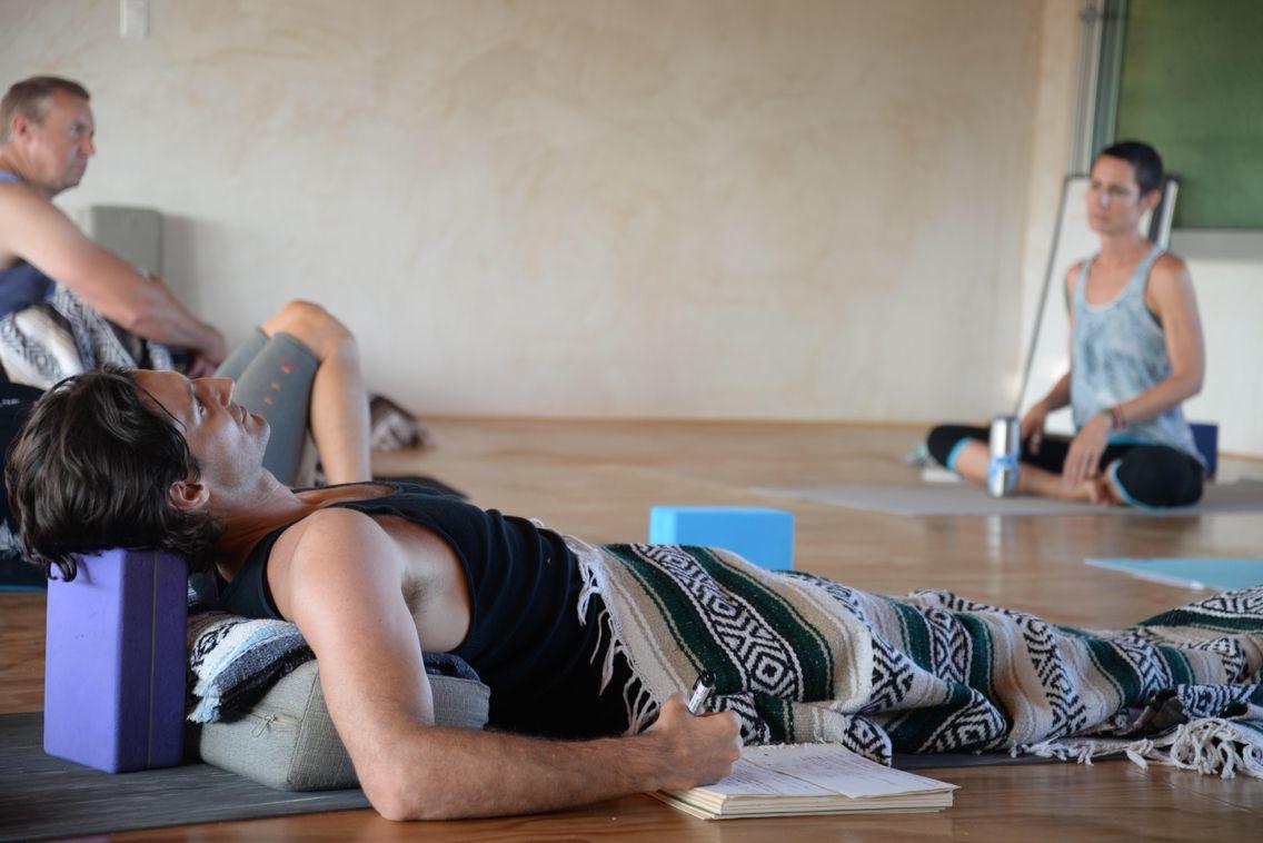 Studying can be relaxing, Yandara 200hr Yoga Teacher