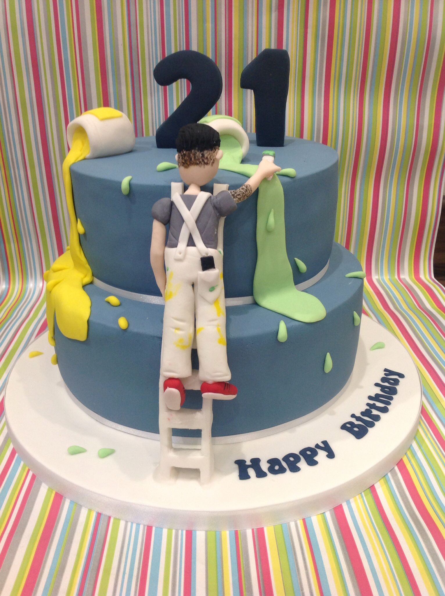 Painter And Decorator Cake In 2019 Cake Toppings Cake