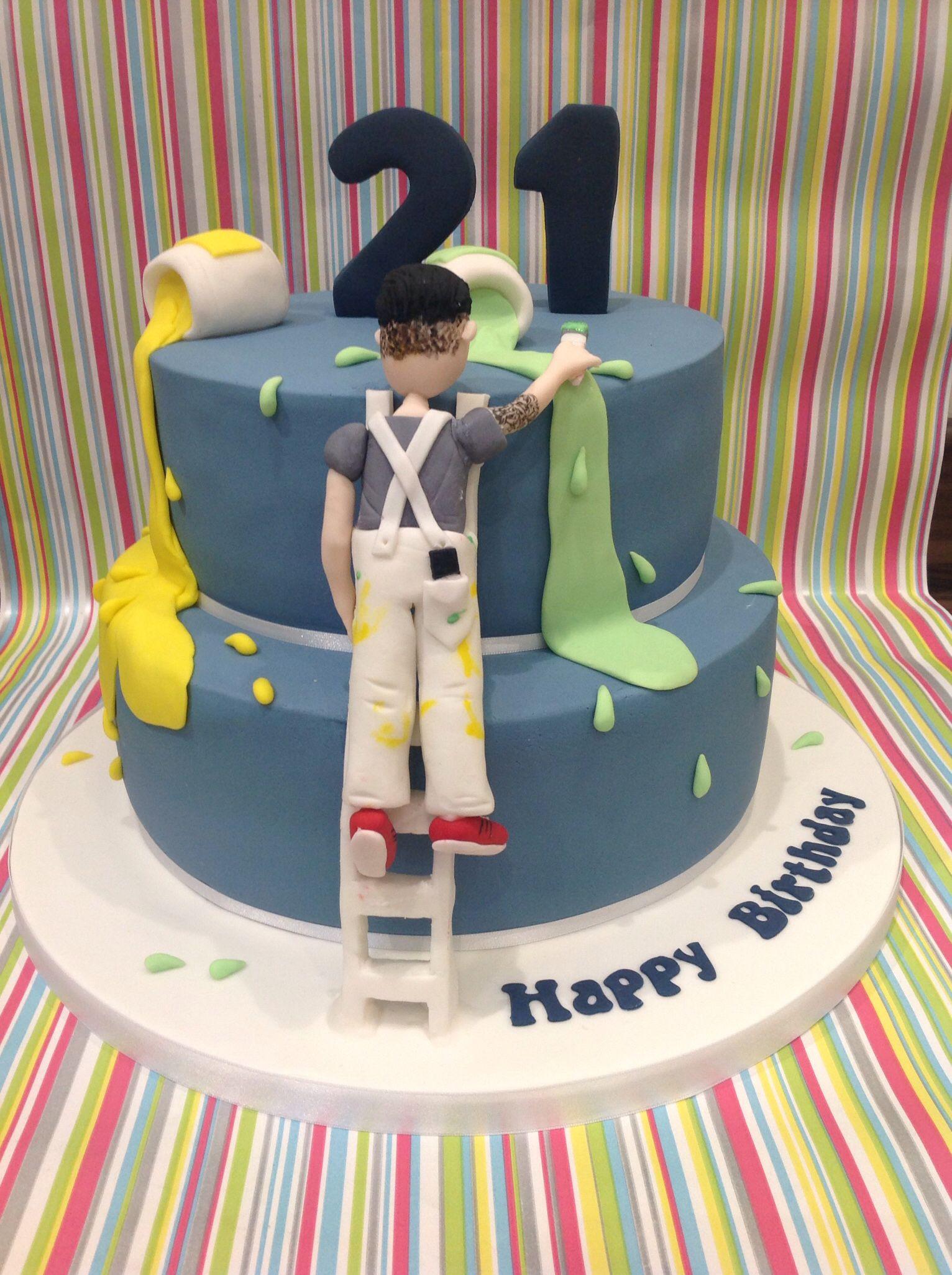 Painter And Decorator Cake Cake Cake Cake Toppings