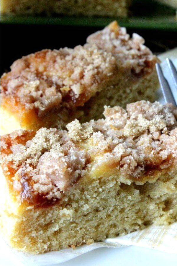 Vegan Coffee Cake with Apple Cinnamon Streusel