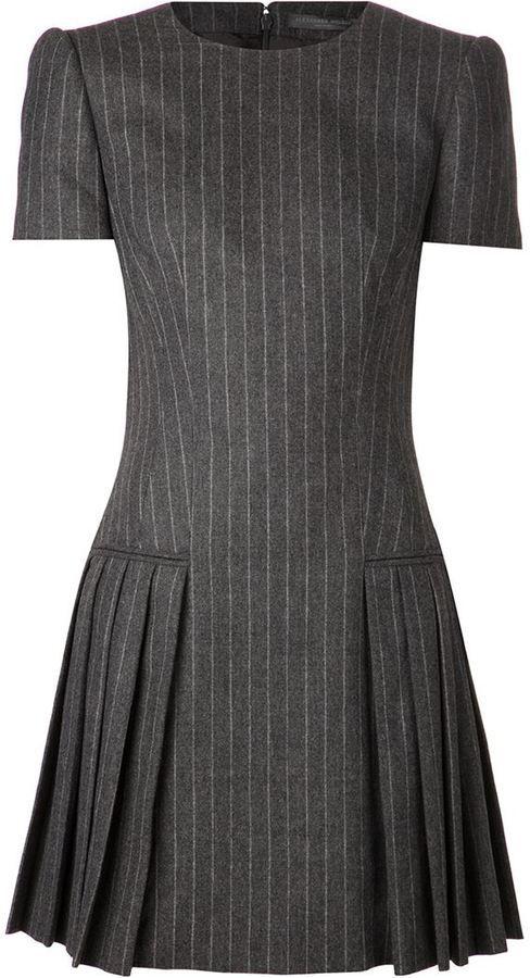 Alexander McQueen pinstripe dress