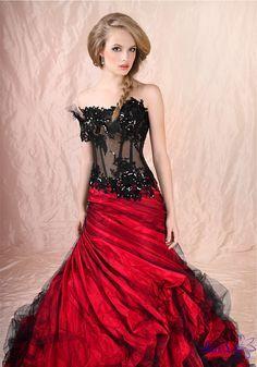 Cheap Red Wedding Dress