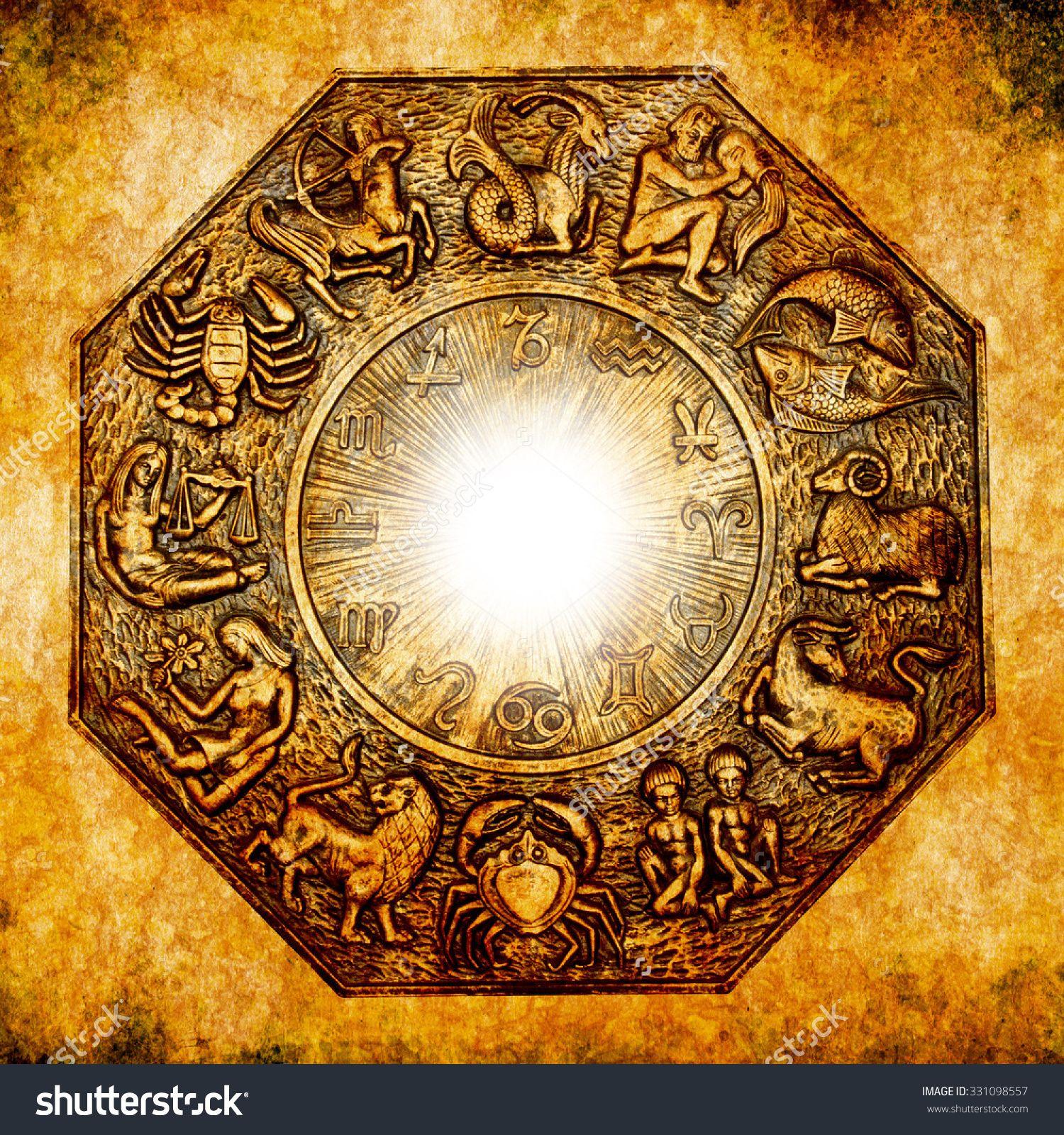 astrological signs on a grunge background   Astrology, Medical ...