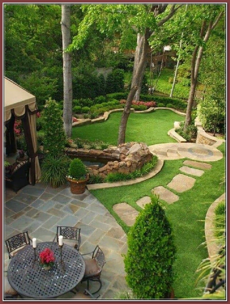 Photo of Think retaining walls for blossom beds, pretty garden paths, and bubbling water …