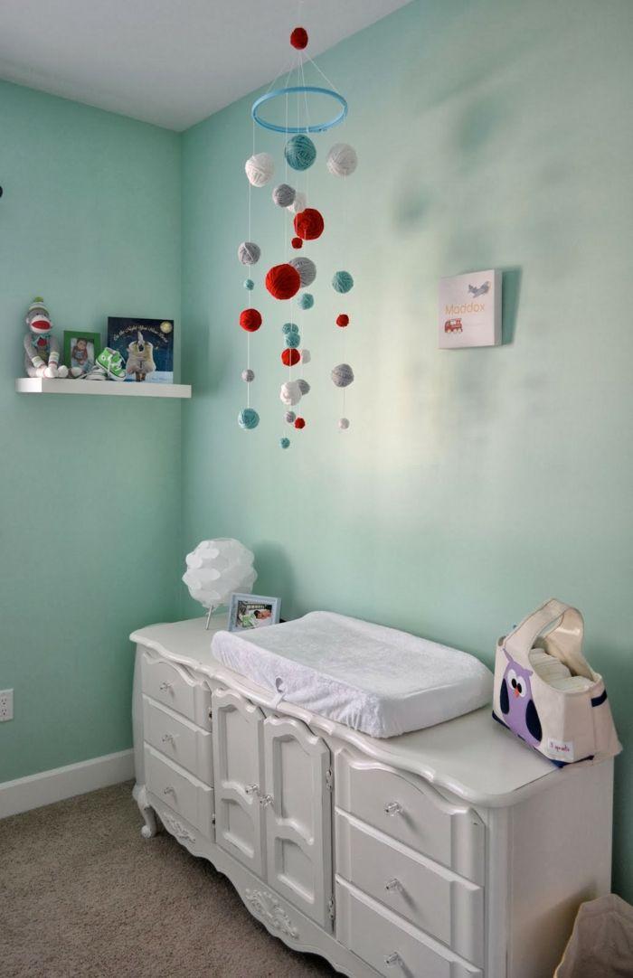 Babyzimmer deko diy  wollkonellen fürs baby mobile | Kinderzimmer | Pinterest | Mobiles ...