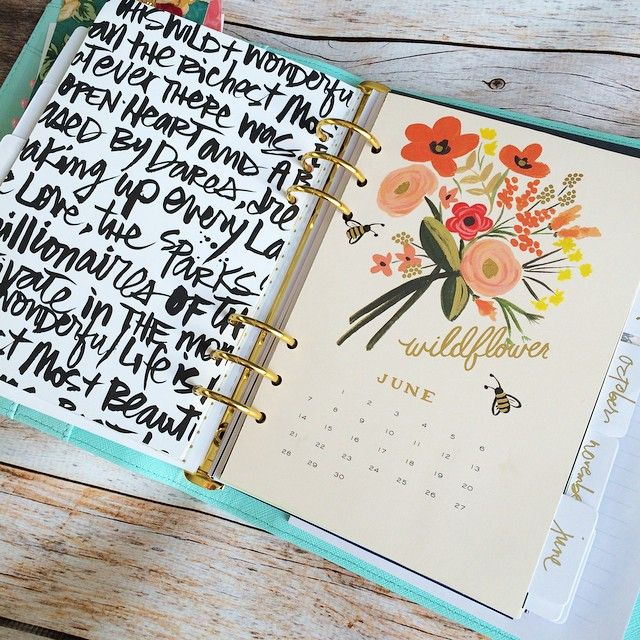 Diy Calendar Tabs : Diy filofax monthly dividers made from tabs