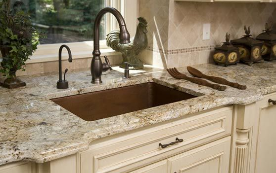 The Granite Countertop Overlay Costs Far Less In Terms Of The Highly Skilled Labor That You Would Ne Cream Kitchen Cabinets Granite Kitchen Kitchen Countertops