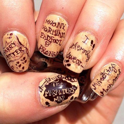 Harry Potter Nails Art Nail Art U 241 As Pintadas U 241 As Art 237 Sticas Y U 241 As Bonitas