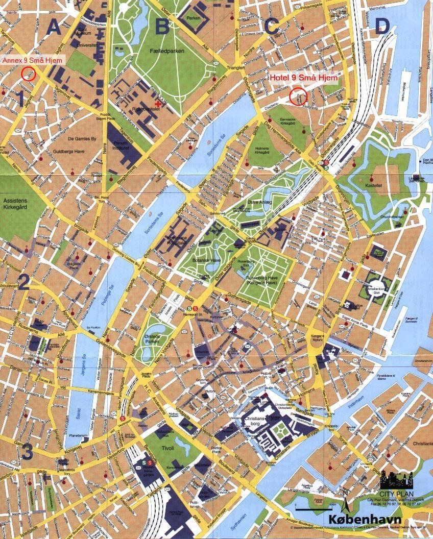 Mapa Turistico De Copenhague.Copenhagen Denmark Tourist Map Copenhagen Mappery Viajes