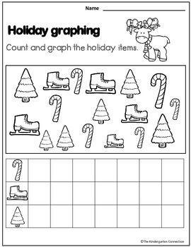december print that 39 s it kindergarten math and literacy printables sampler christmas school. Black Bedroom Furniture Sets. Home Design Ideas