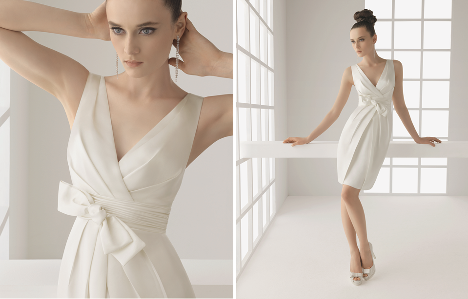 Vestidos de novia sencillos para segundas nupcias | Casamiento ...