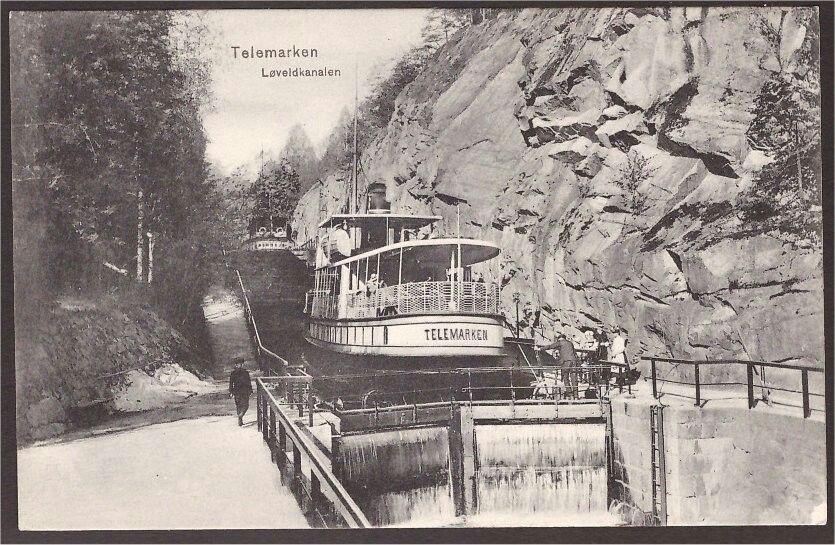 Løveidkanalen. D/S Telemarken. P. Alstrrup