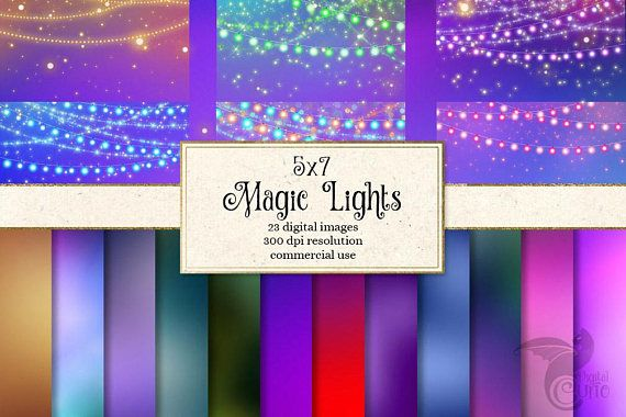 Magic String Lights Clipart And Backgrounds 5x7 Digital Invitation Bokeh Fairy Christmas Party Png Clip Art