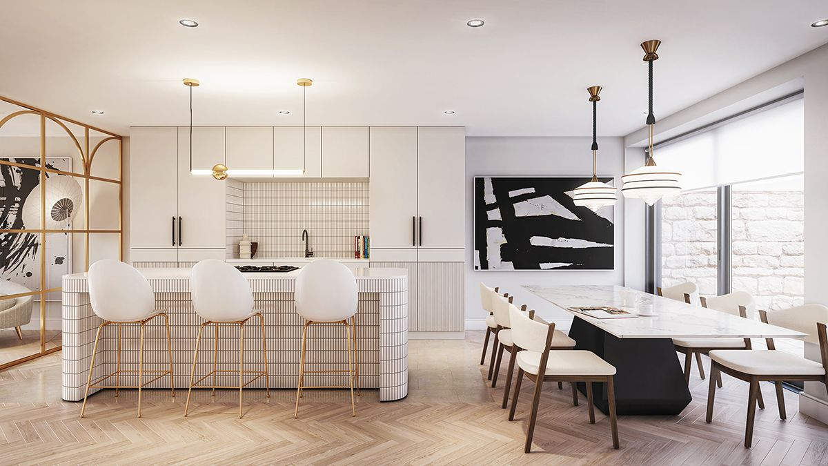 Our Interior Render Of The Elegant Open Plan Kitchen And Dining