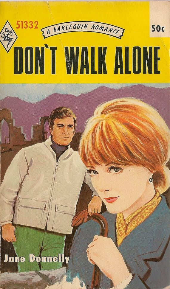 Harlequin Romance Book Cover : Vintage book don t walk alone a harlequin romance