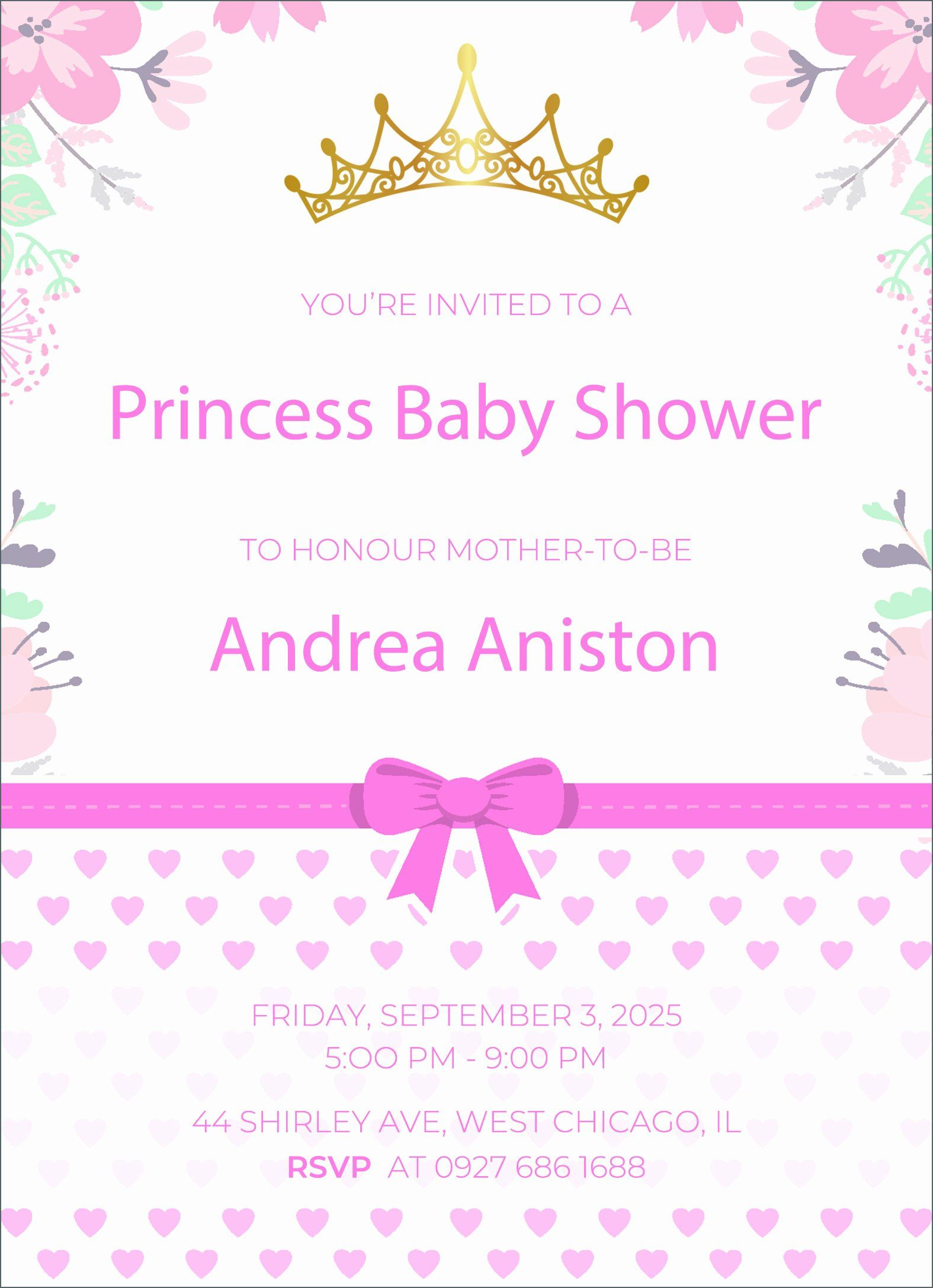 Princess Theme Baby Shower Invitations Fresh 24 Free Editable Baby S Baby Shower Invitation Cards Free Baby Shower Invitations Baby Shower Invitation Templates