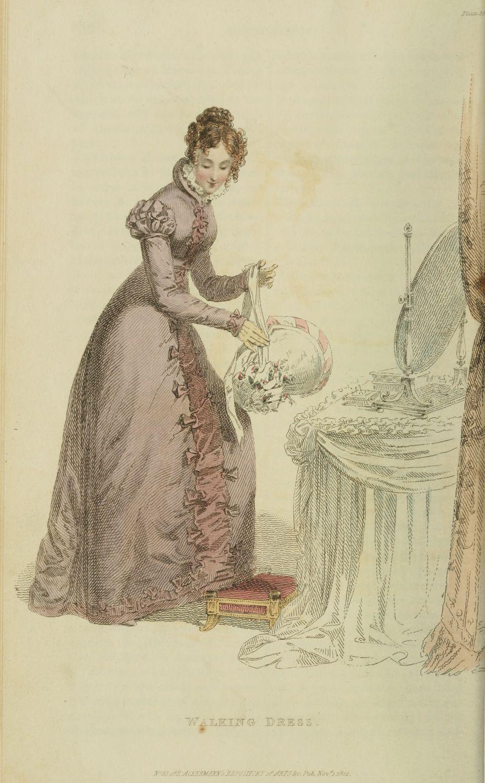 1822. Walking Dress, Ackermann's Repository, November