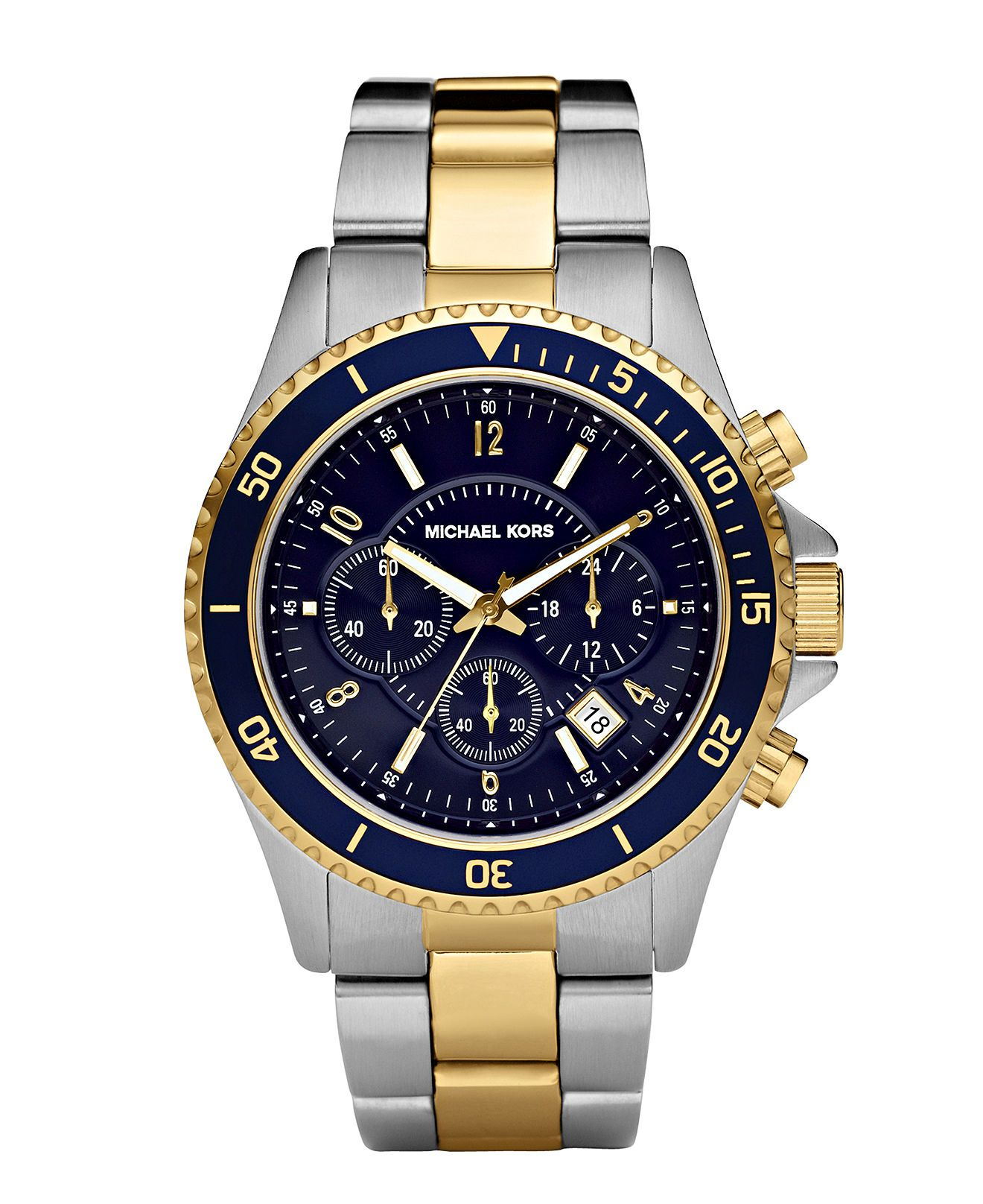 45100e006 Michael Kors Men's Chronograph Madison Two Tone Stainless Steel Bracelet  Watch 45mm MK8175 & Reviews - Watches - Jewelry & Watches - Macy's