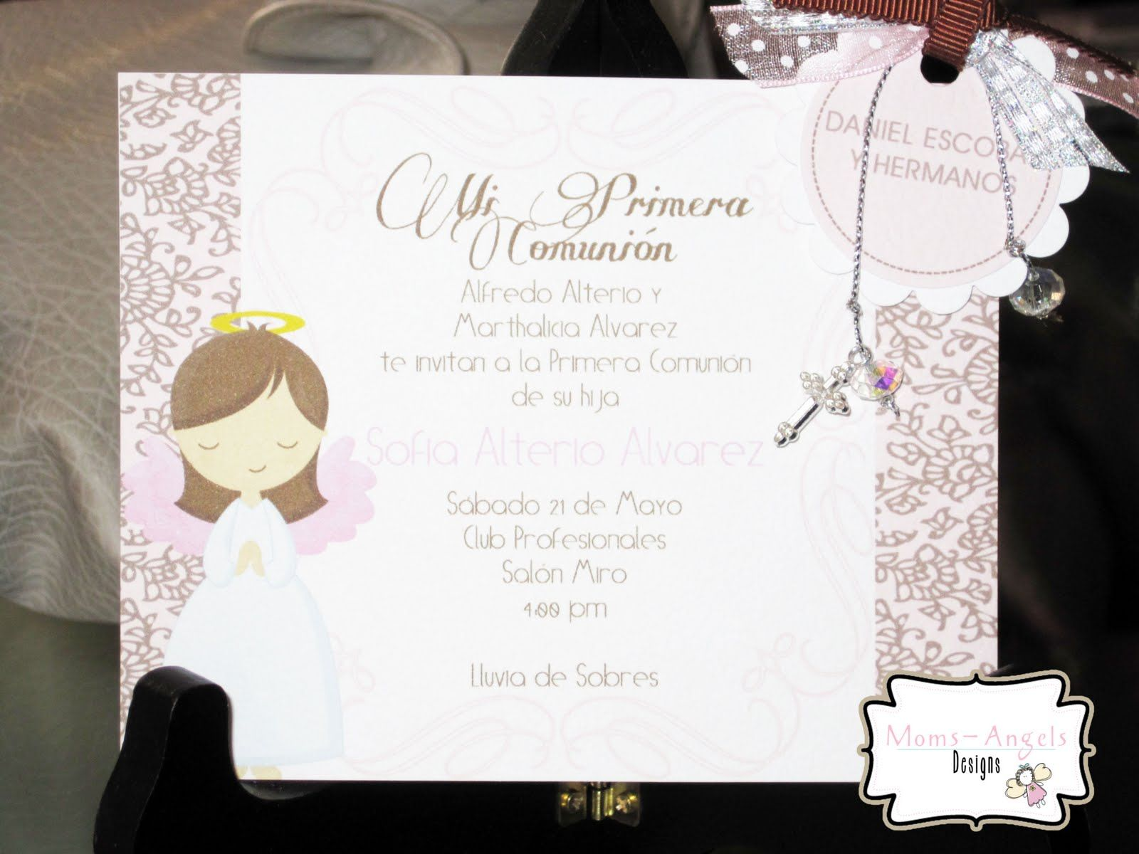 Moms angels invitaciones y decoraciones primera comunion - Invitaciones comunion busquets ...