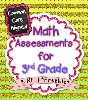 **FREEBIE**  This freebie contains 2 assessments for the following Common Core Standard: 3.NF.1 Understand a fraction 1/b as the quantity formed by…
