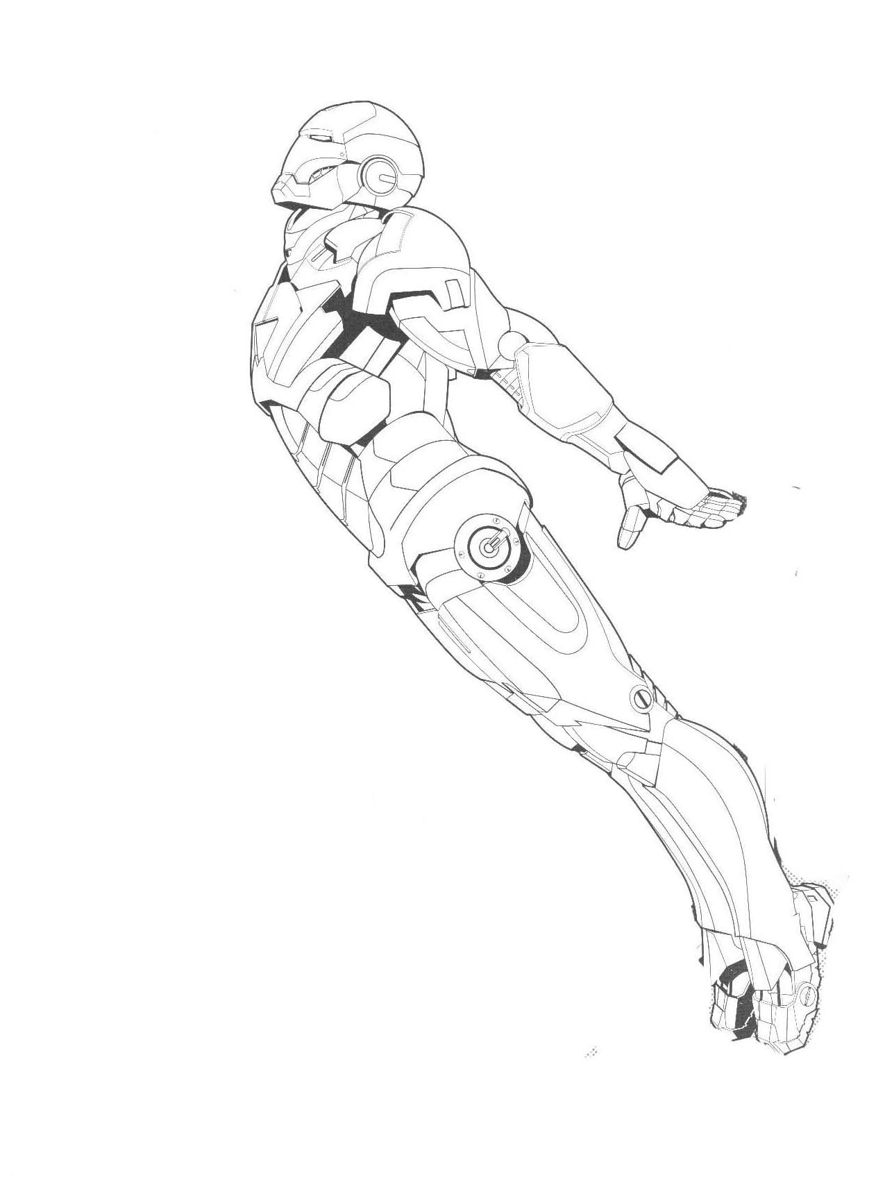 I have download Iron Man Like To Fly To Distant Coloring ...