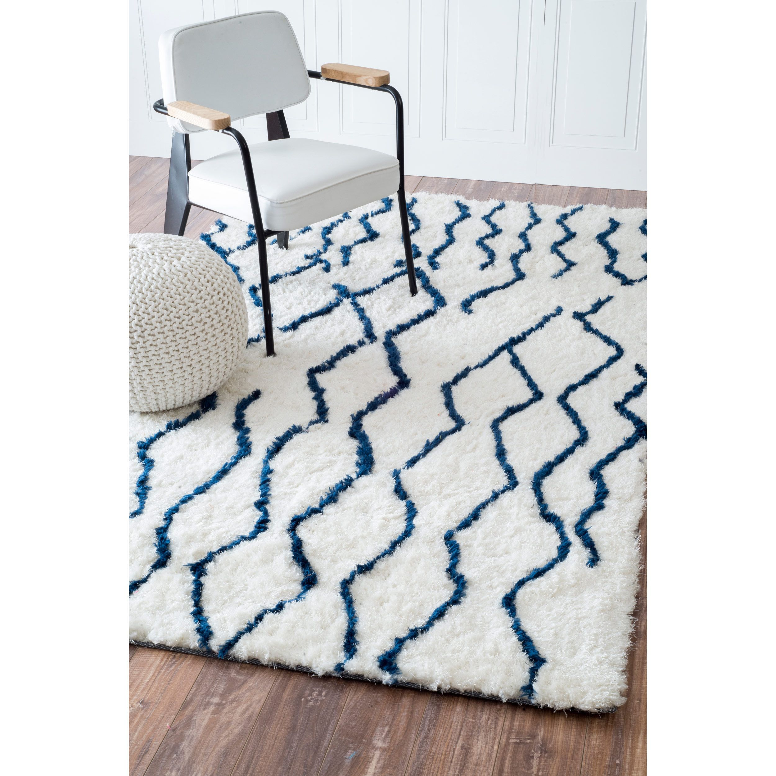 Soft and plush this cozy Moroccan trellis rug adds warmth and