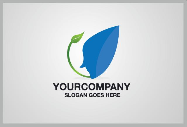 Fresh Human Face Logo Template