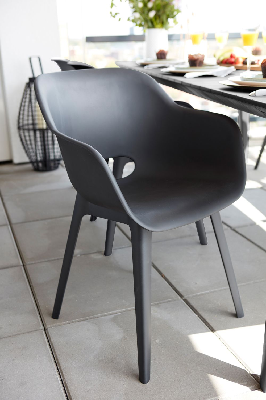 Best Freizeitmobel Gartenstuhl Split Graphit Gartensessel Gartenstuhle Sessel