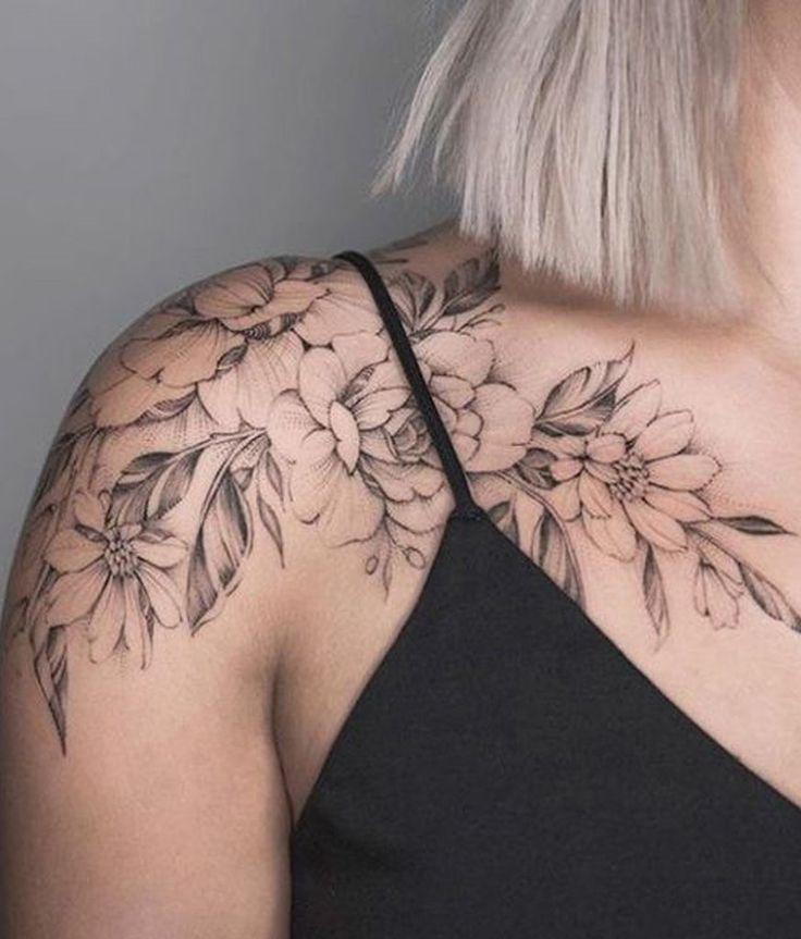 Schöne Wildrose Schulter Tattoo Ideen für Frauen – Ideen hermosas del tatuaj … #tattoos – Easy flowers