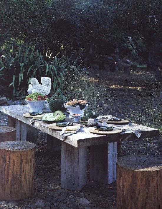if only this table could find it's way into my home...where can I find deliciously grey chunky old wood...