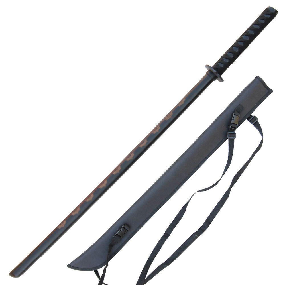 Bokken Sword Hardwood Practice Katana Black Kendo Kata Martial Arts Training