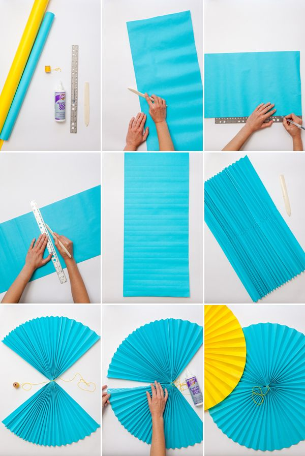 Giant Paper Fans Oh Happy Day Crafty Pinterest Paper Fans