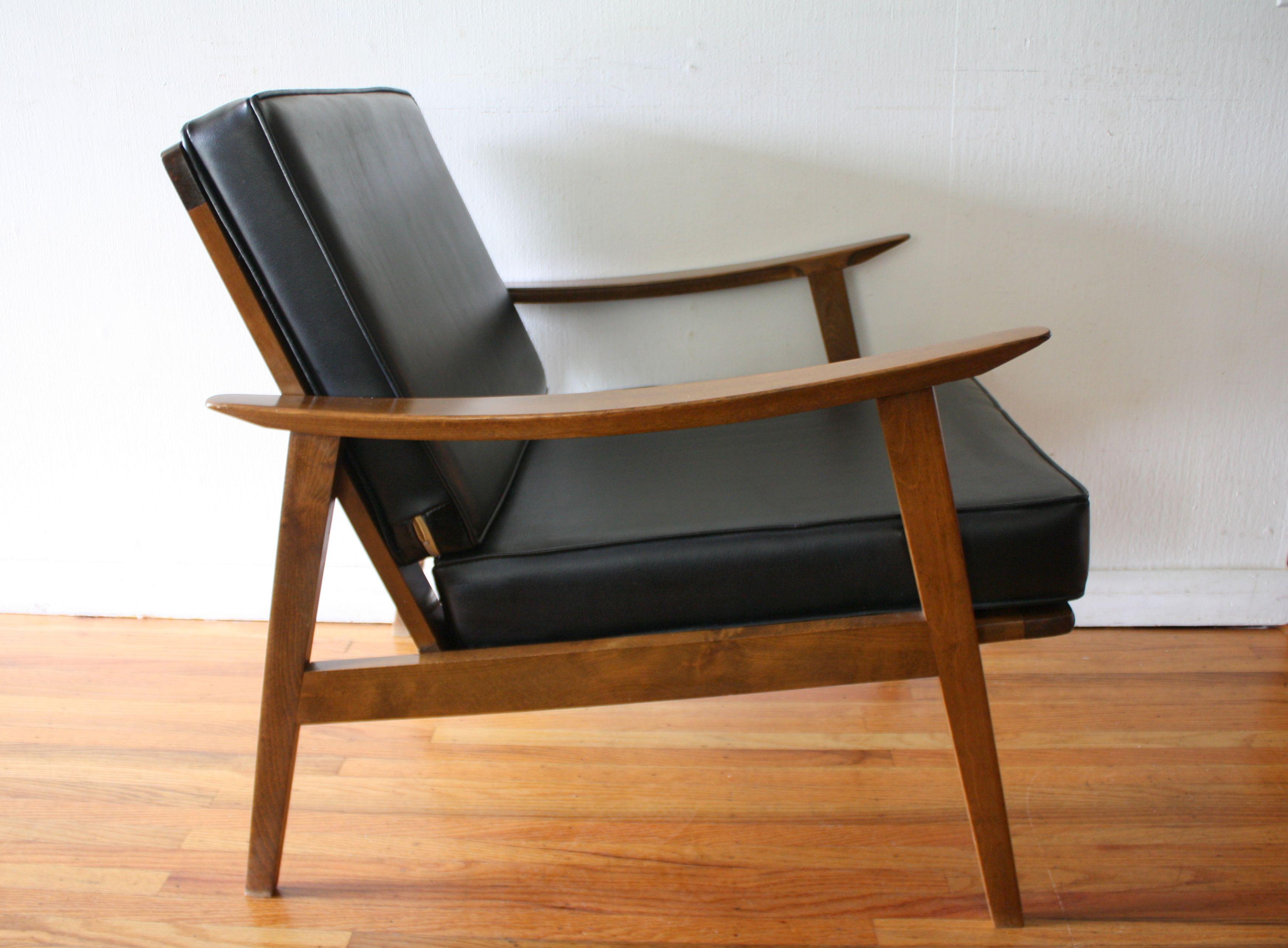 Mid Century Modern Arm Lounge Chair Mid Century Modern Chair Danish Modern Chairs Black Leather Chair