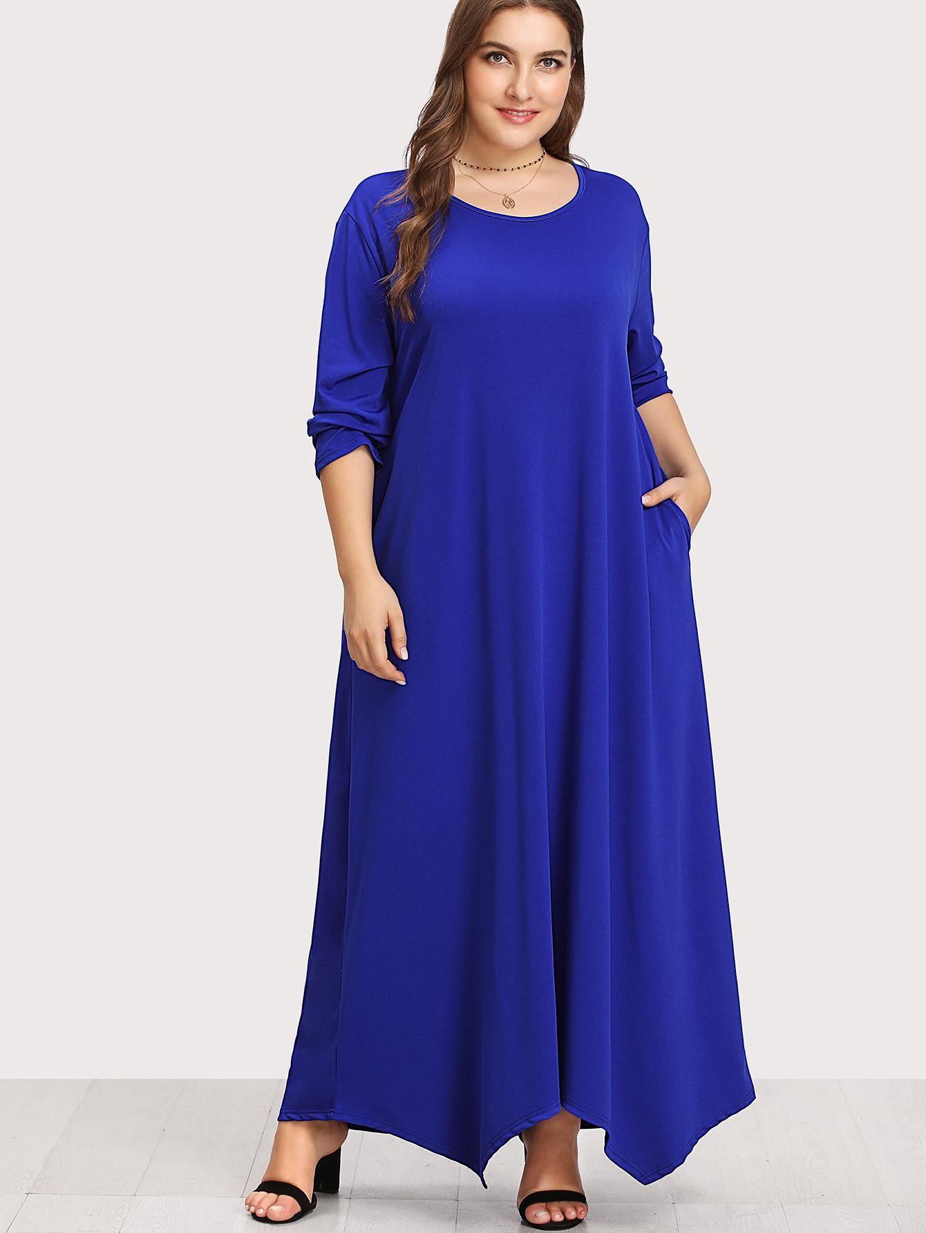 390cd276f8 #Spring #AdoreWe #SheIn - #SheIn Long Sleeve Solid Maxi Dress - AdoreWe.com