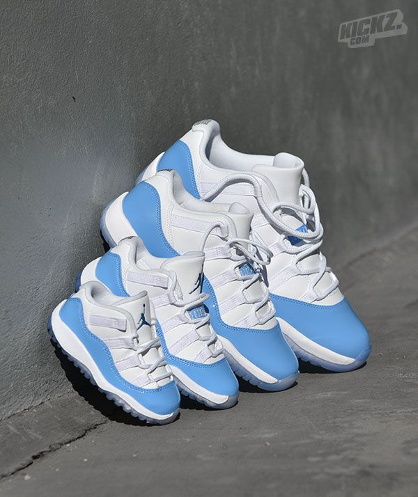 584a0fd554ce93 Air Jordan 11 low UNC is a tribute to Michael Jordan s alma mater and comes  in all sizes.   kickz.com