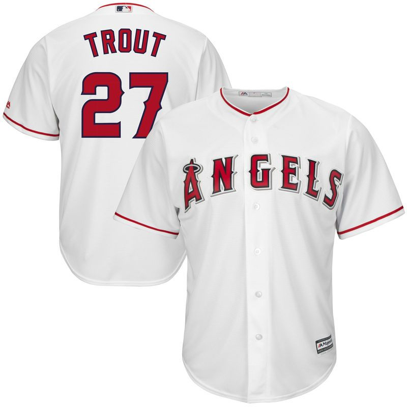 e734e2e717f Mike Trout  27 Los Angeles Angels of Anaheim Majestic Big   Tall Cool Base  Player Jersey - White