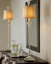 Pair Of Buffet Lamps Tall And Skinny