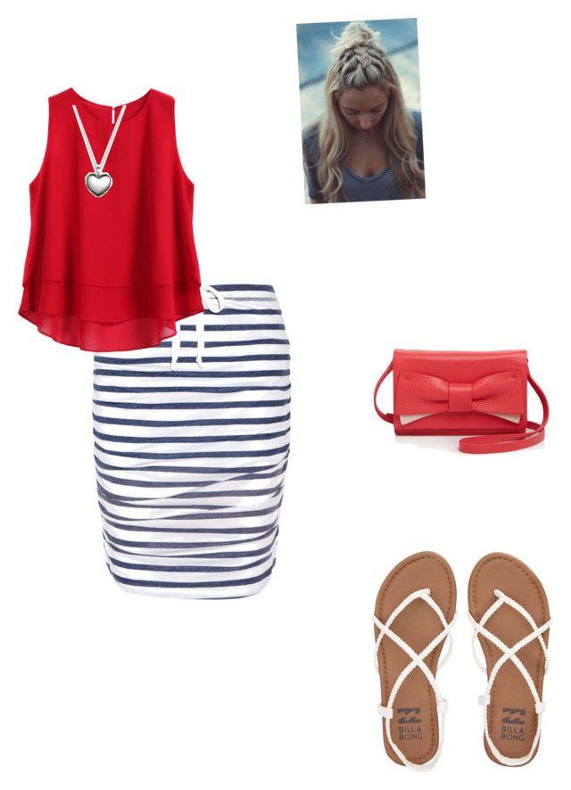 """""""red white and blue"""" by acousticflute ❤ liked on Polyvore featuring Splendid, Billabong, Pandora and Kate Spade"""