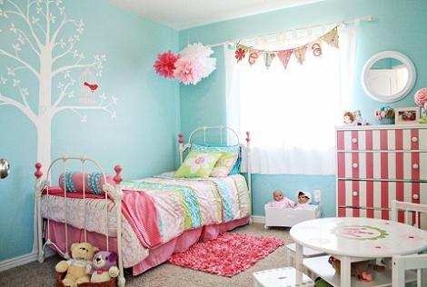 opciones en azul para cuarto de nina