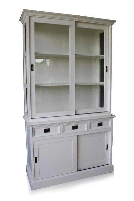 vitrine buffet schrank landhausstil landhaus shabby chic weiss massiv neu wohn ideen eigene. Black Bedroom Furniture Sets. Home Design Ideas