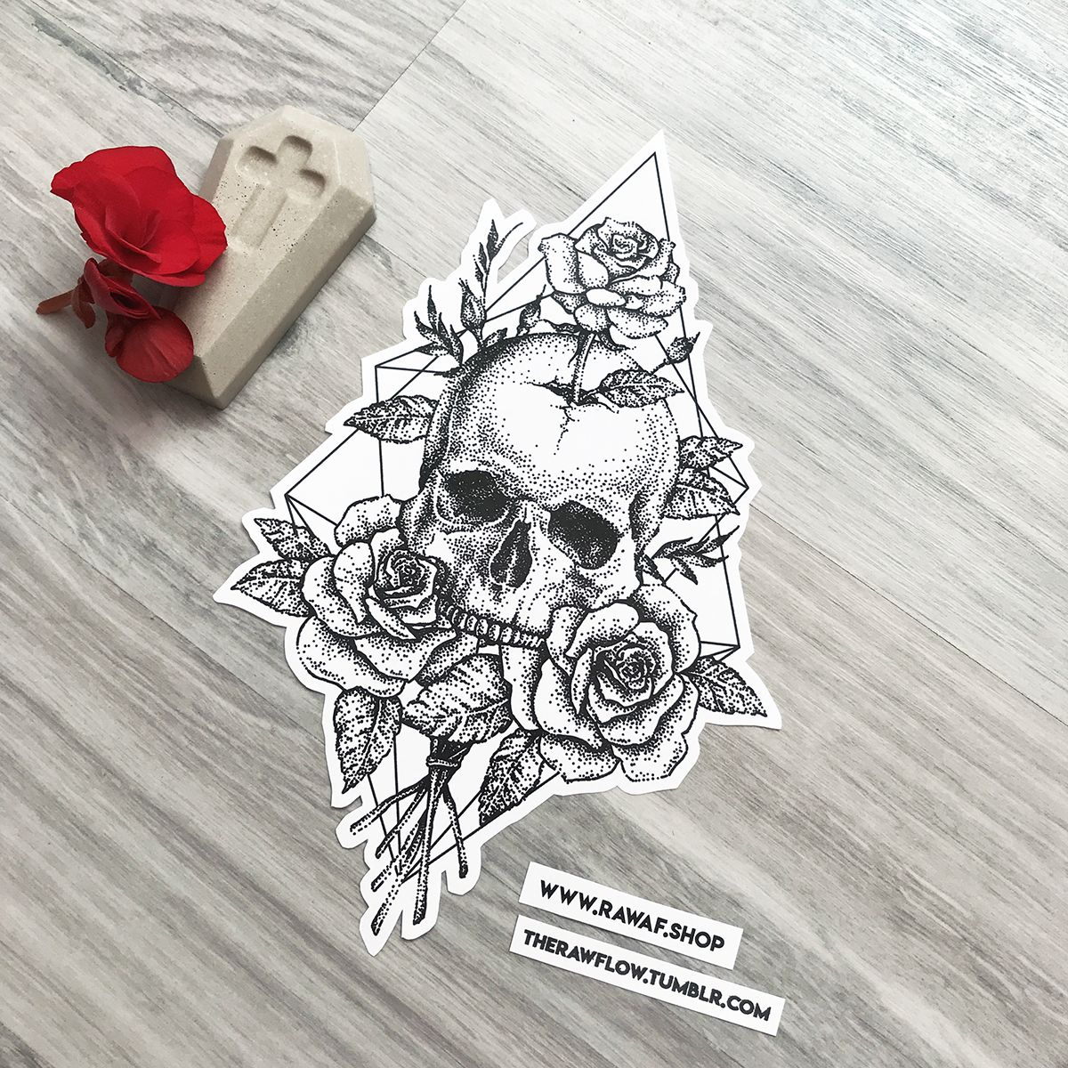 Dotwork Cracked Skull Roses Tattoo Design Download The Full Size Pdf Www Rawaf Shop Tattoo Skull Tattoo Design Skull Rose Tattoos Rose Tattoo Design