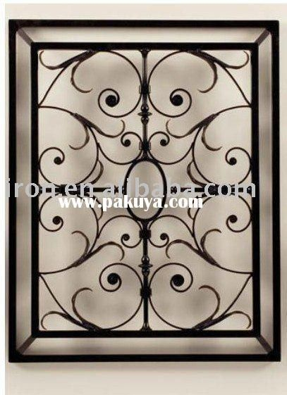 Cast Iron Wall Scroll Home Decor Iron Wall Grille Balcony Style