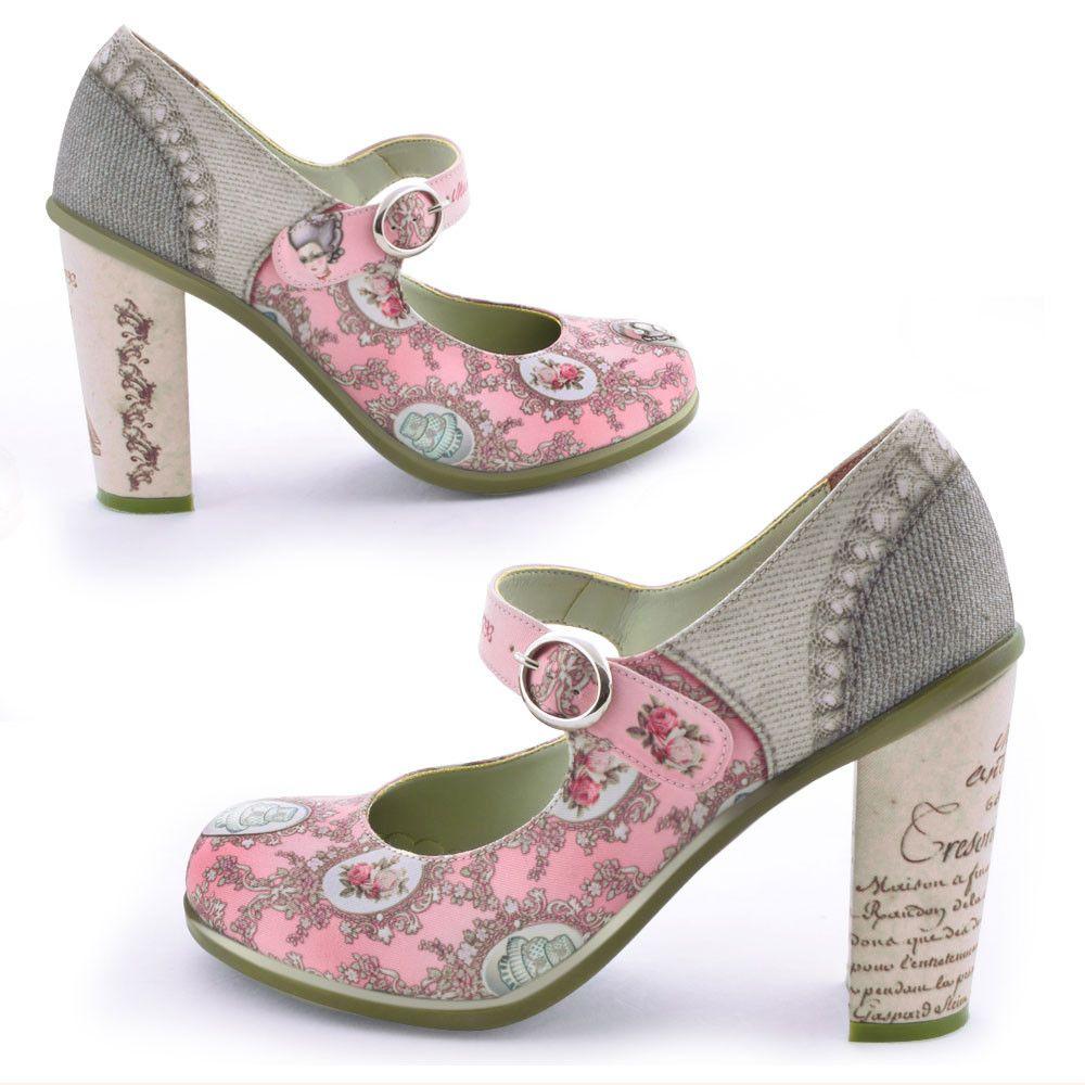 Chocolaticas High Heels Marie Antoinette Women's Mary Jane Pump – Hot  Chocolate Design