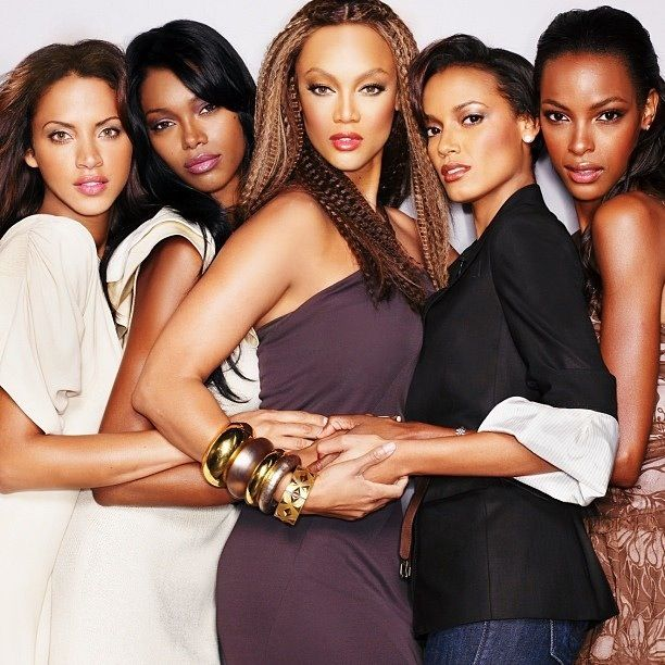 Tyra Banks Black And White: Noemie Lenoir, Jessica White, Tyra Banks, Selita Ebanks