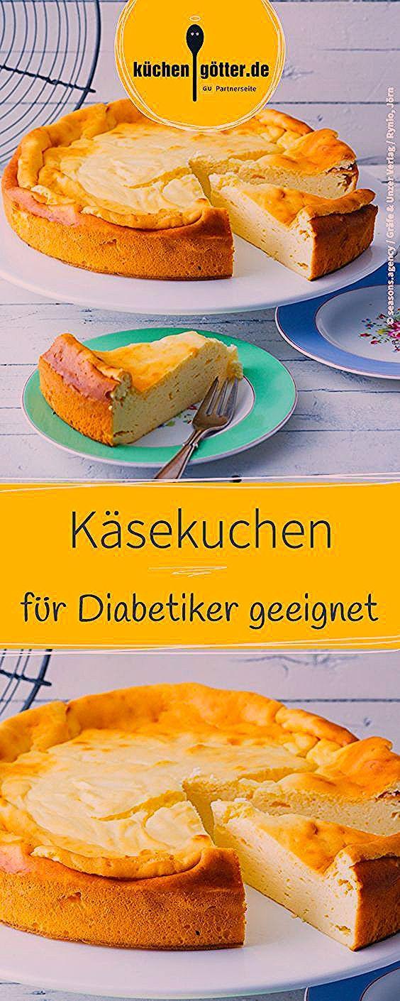Käsekuchen ohne Boden für Diabetiker