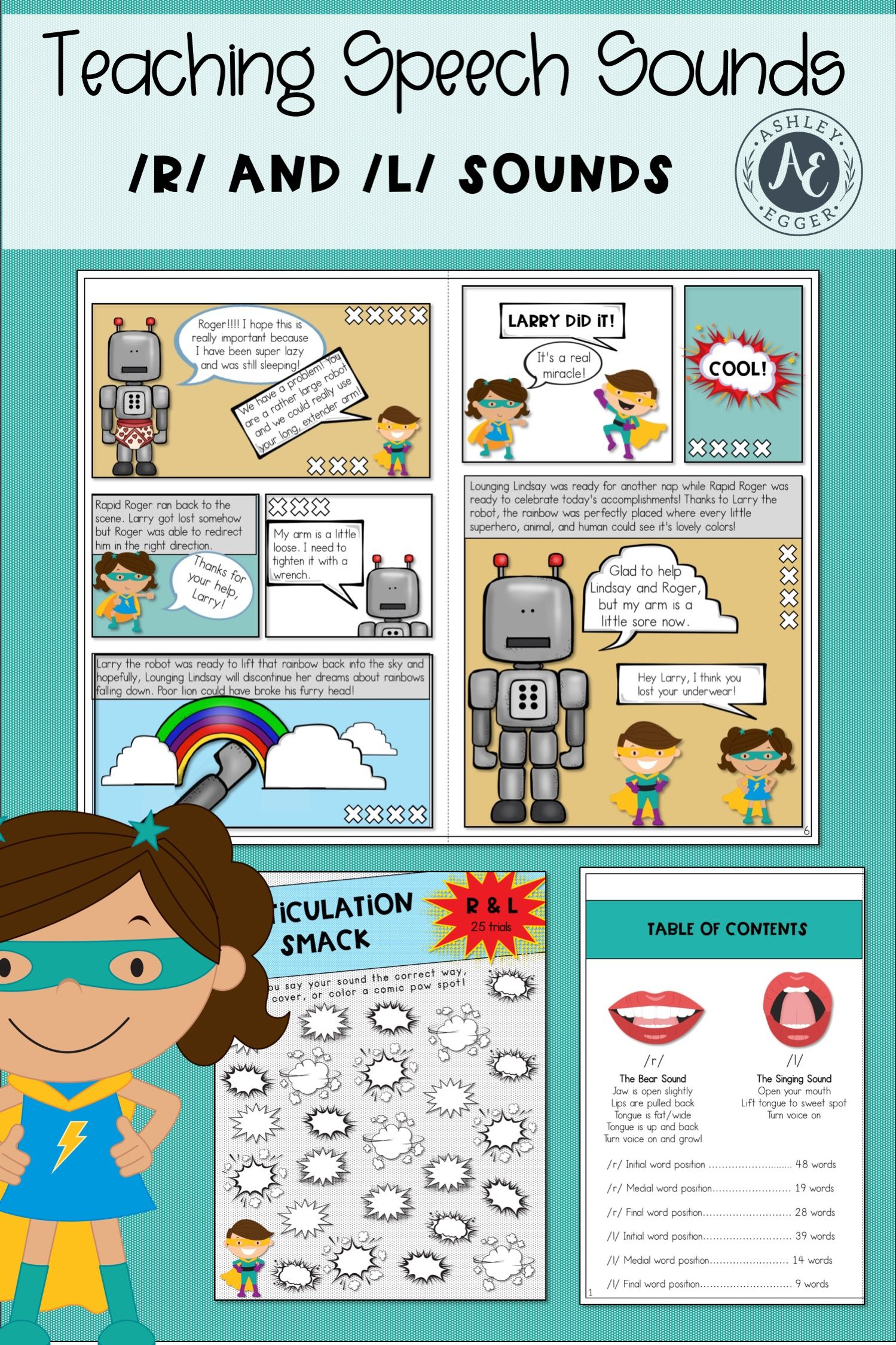 R And L Articulation Activities For Speech Therapy