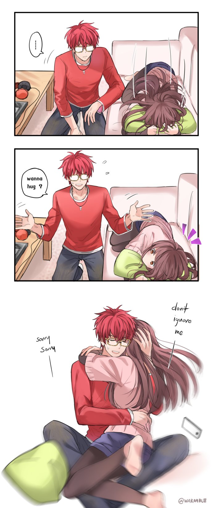 Lolol i remember wen he sed not to bother him so y would - Anime hug pics ...