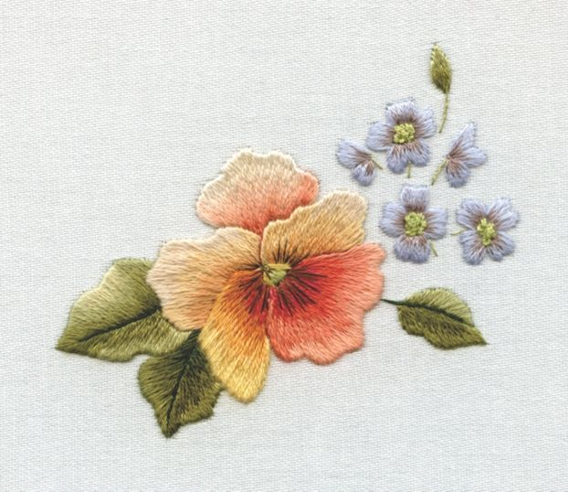 Trish B. Embroidery - long and short shading | Embroidery